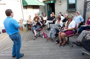 image of Jim Raffel public speaking