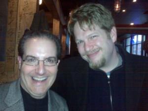 Chris Brogan and Jim Raffel at AJ Bombers