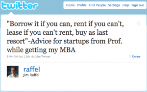 Borrow, Rent, Lease, Buy Tweet