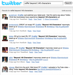 Twitter Search beyond 140 characters