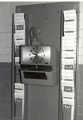 punch a time clock? I think not.