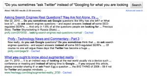 asking google vs asking twitter