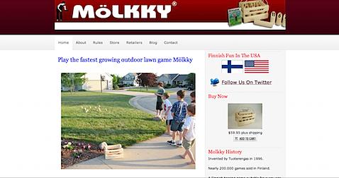 MolkkyUSA.com redesign above the fold