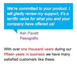 Unsolicited customer testimonials are social capital