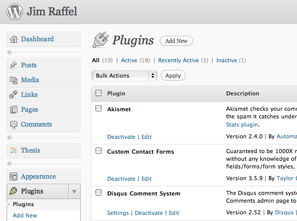 18 WordPress plugins I like and use
