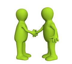 image of business partner or customer