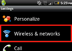 image of htc EVO mobile networks always on