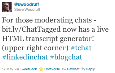 image of steve woodruff chattagged tweet