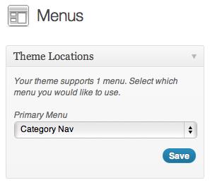 image of wordpress menus