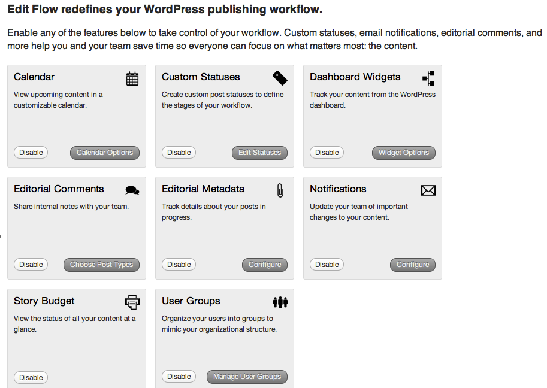 Edit flow modules view