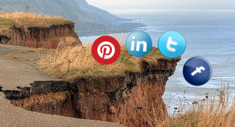 image of going over the social media cliff